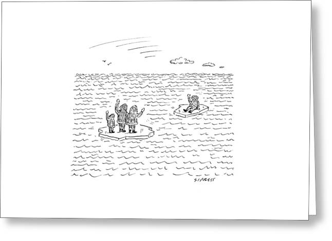 New Yorker July 21st, 2008 Greeting Card by David Sipress