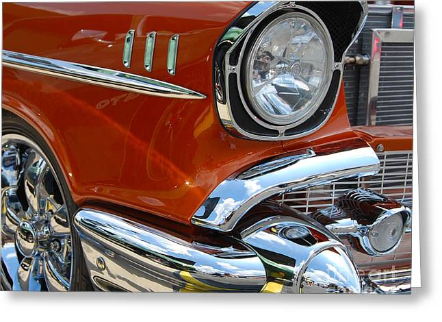 '57 Chevy Closeup Greeting Card