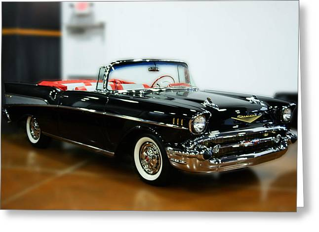 Greeting Card featuring the photograph 57 Chevy Convertible  by B Wayne Mullins