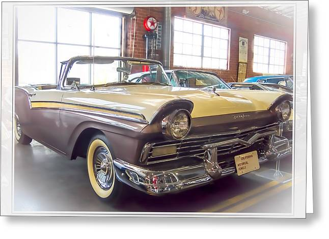 Greeting Card featuring the photograph 57 Ford Fairlane by Steve Benefiel