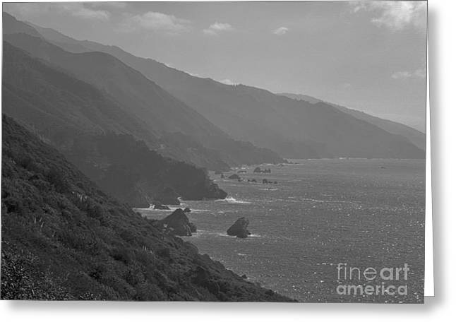 573 Bw Big Sur Coast 3 Greeting Card