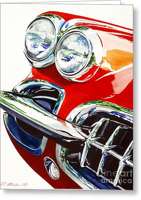 58 Corvette Greeting Card by Rick Mock