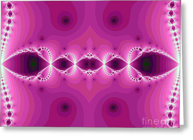 Fantasy Fractal Greeting Card by Odon Czintos