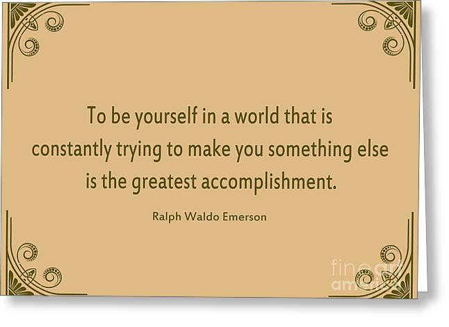 58- Ralph Waldo Emerson Greeting Card