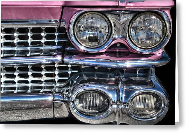 59 Caddy Lights Greeting Card