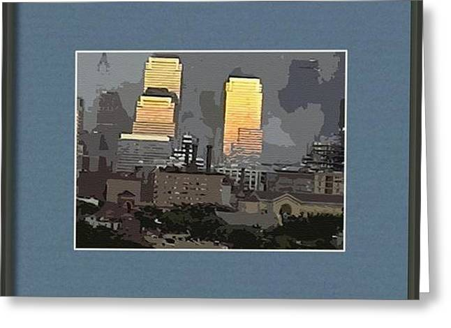 Cutout Tempera Impressions From Tuesday Morning In September Greeting Card by Kosior