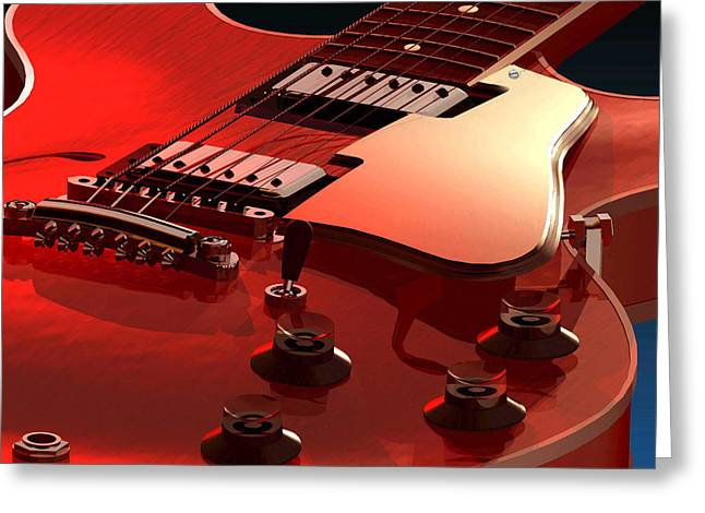 '59 Dot Neck Gibson Es-335 Greeting Card by Dan Terry