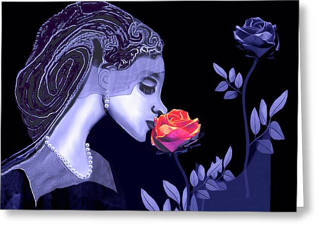 590 - Flavour Of The Rose Greeting Card by Irmgard Schoendorf Welch