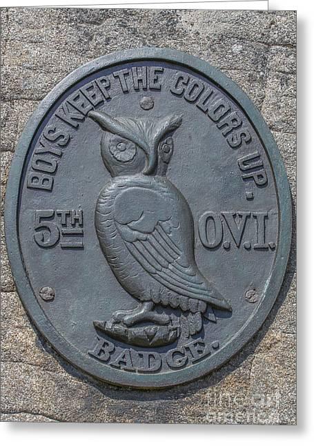 5th Ohio Owl Marker Gettysburg Greeting Card by Randy Steele