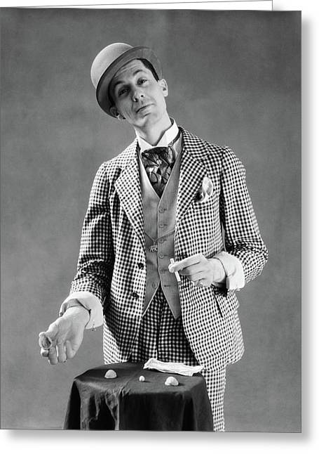 1910s 1920s Character Con Man Barker Greeting Card