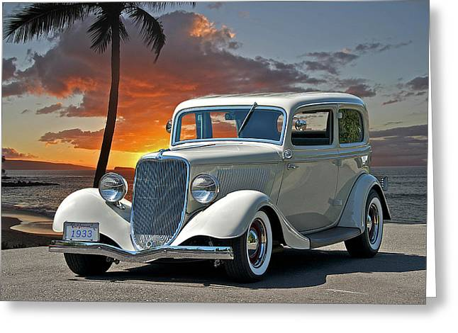 1933 Ford Tudor Sedan Greeting Card by Dave Koontz