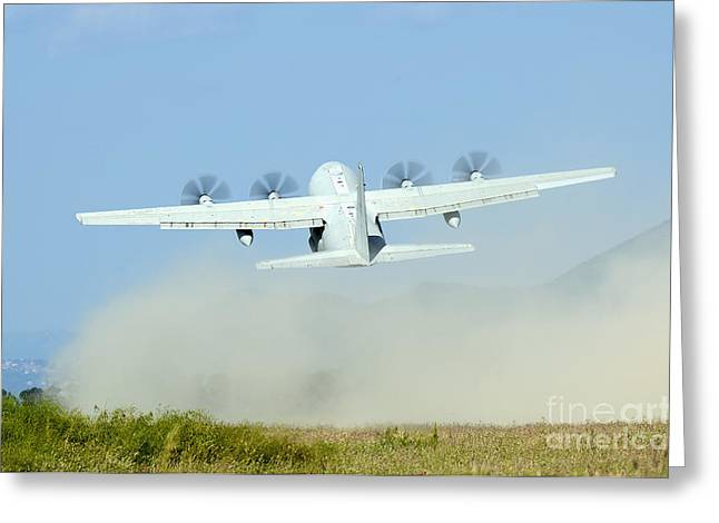 A C-130 Hercules Of The Italian Air Greeting Card by Remo Guidi