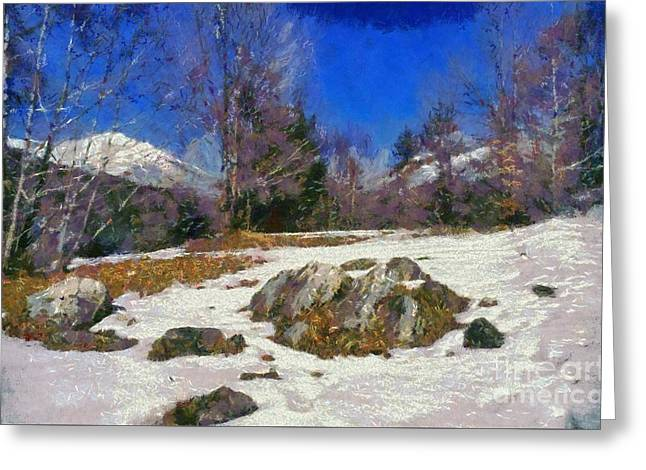 Abruzzo National Park Greeting Card by George Atsametakis