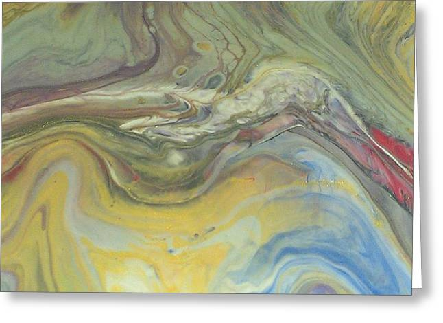 Acrylic Pour Greeting Card by Sonya Wilson