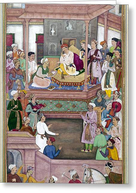 Akbar The Great (1542-1605) Greeting Card by Granger