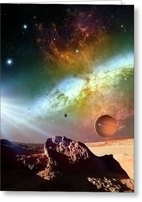 Alien Planetary System Greeting Card