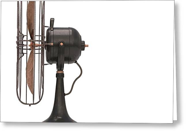 Antique Fan Greeting Card by Ktsdesign