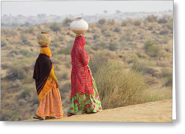 Asia, India, Rajasthan, Manvar, Desert Greeting Card