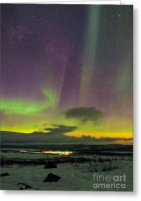 Aurora Borealis, Lapland, Sweden Greeting Card by Babak Tafreshi, Twan