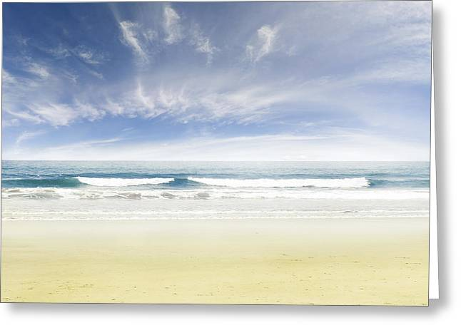 Beach Greeting Card by Les Cunliffe