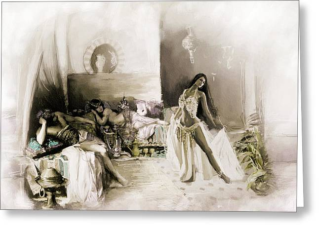 Belly Dancer Lounge B Greeting Card by Corporate Art Task Force