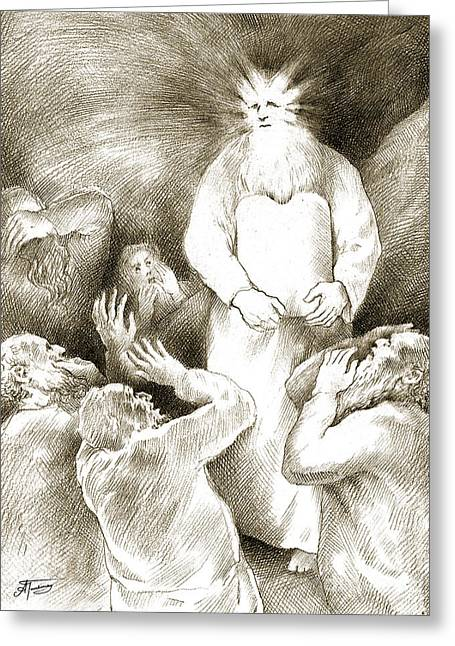 Biblical Illustration Greeting Card by Alex Tavshunsky