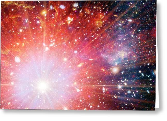 Big Bang Greeting Card by Detlev Van Ravenswaay
