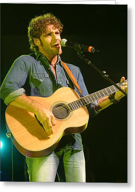 Billy Currington Greeting Card by Don Olea