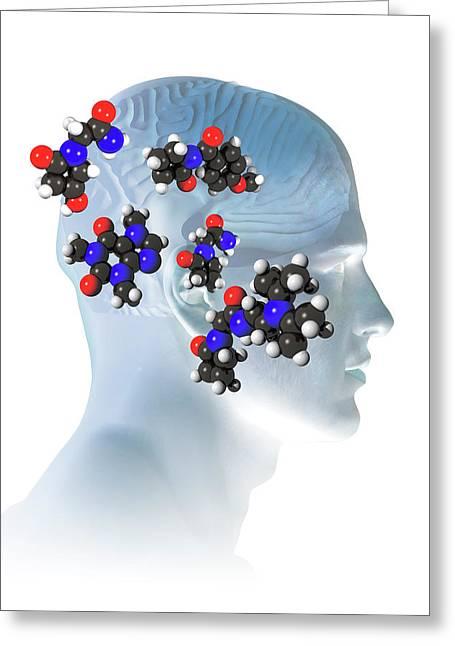 Brain-enhancing Supplements Greeting Card by Carol & Mike Werner