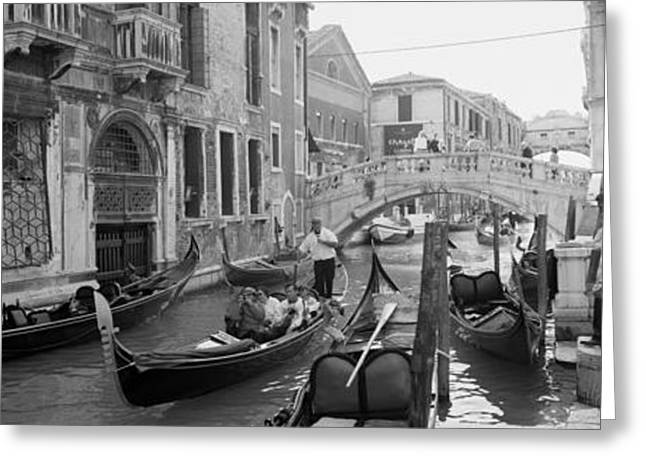 Buildings Along A Canal, Grand Canal Greeting Card