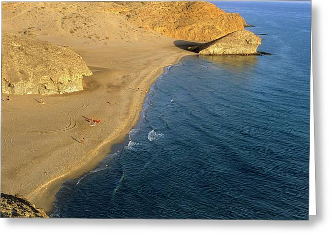 Cabo De Gata Greeting Card by Lucas Vallecillos