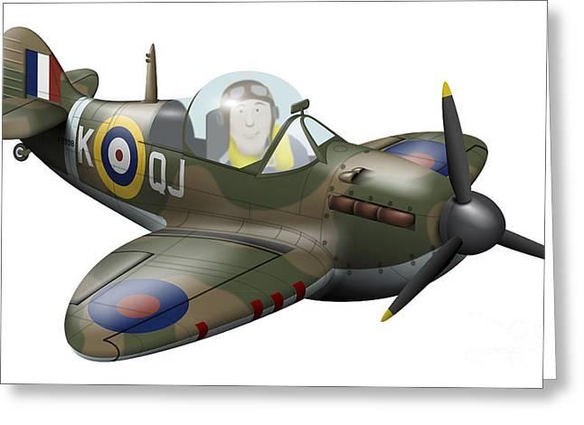 Cartoon Illustration Of A Royal Air Greeting Card