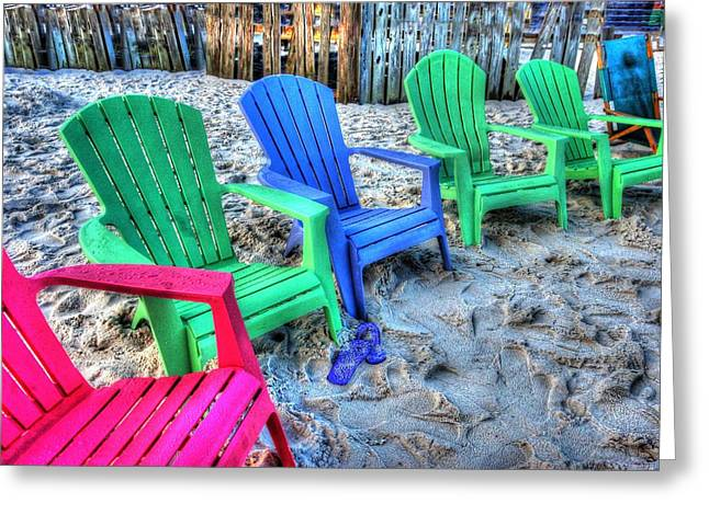 6 Chairs Greeting Card by Michael Thomas