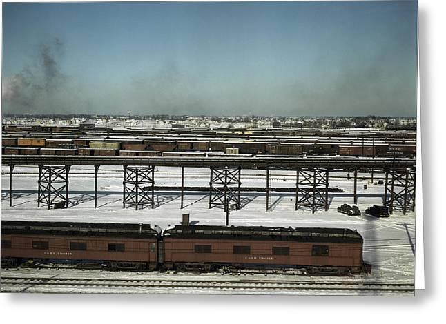 Chicago Railroad, 1942 Greeting Card