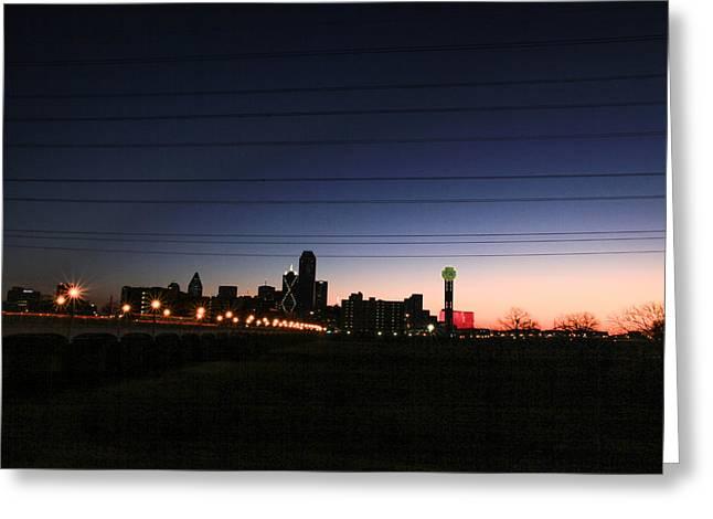 City Of Dallas Greeting Card by Tinjoe Mbugus