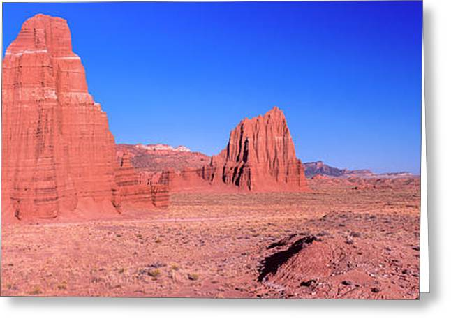 Cliff In Capitol Reef National Park Greeting Card by Panoramic Images