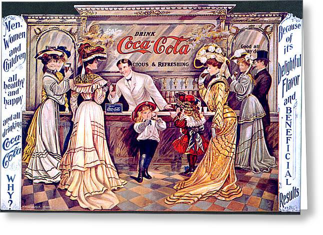 Coca - Cola Vintage Poster Greeting Card