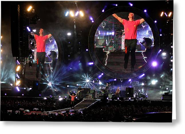 Coldplay - Sydney 2012 Greeting Card