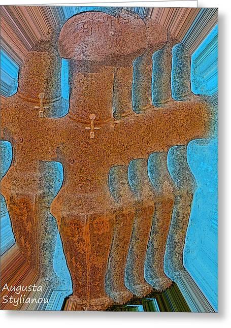 Cyprus Idol Of Pomos Greeting Card by Augusta Stylianou
