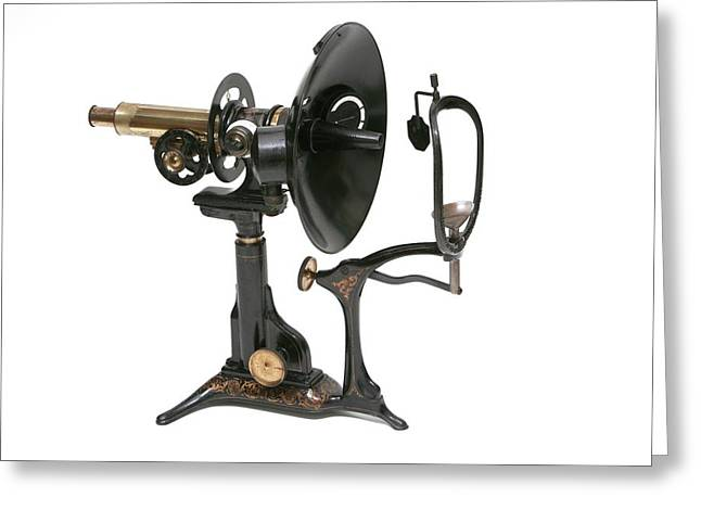Early 20th Century Ophthalmoscopy Tool Greeting Card by Mark Thomas/science Photo Library