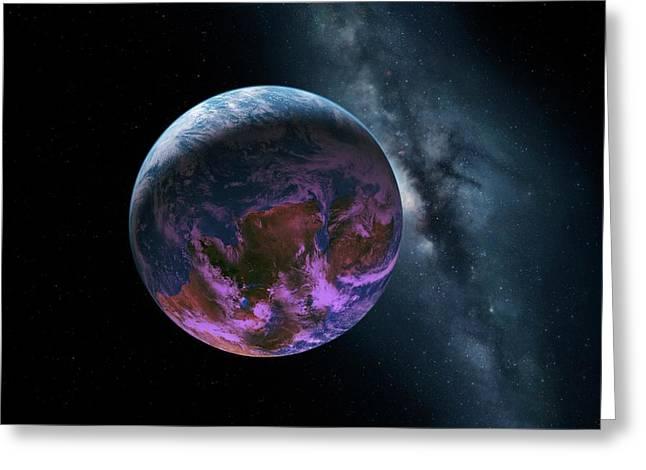 Earth-like Alien Planet Greeting Card