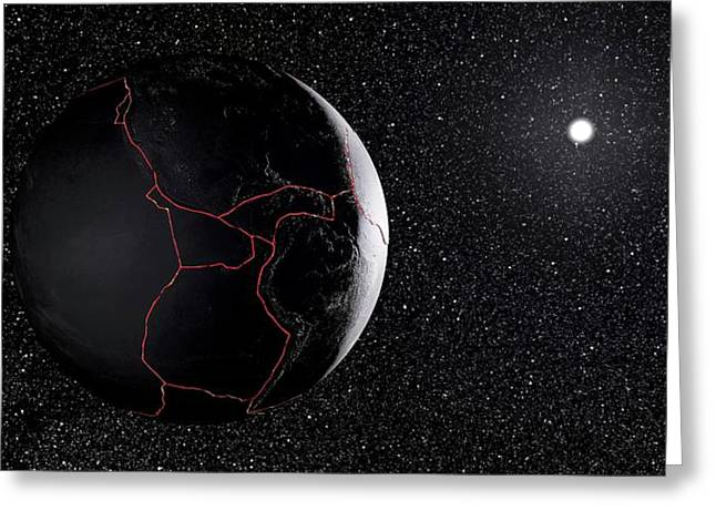 Earth's Tectonic Plates Greeting Card by Peter Matulavich