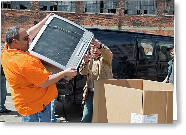 Electronic Waste Collection Greeting Card by Jim West