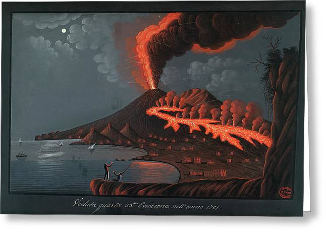 Eruption Of Mt. Vesuvius Greeting Card