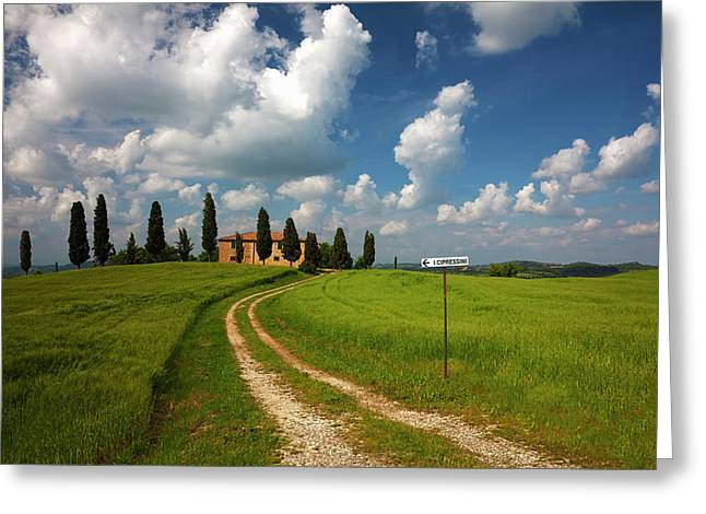 Europe, Italy, Tuscany Greeting Card by Terry Eggers