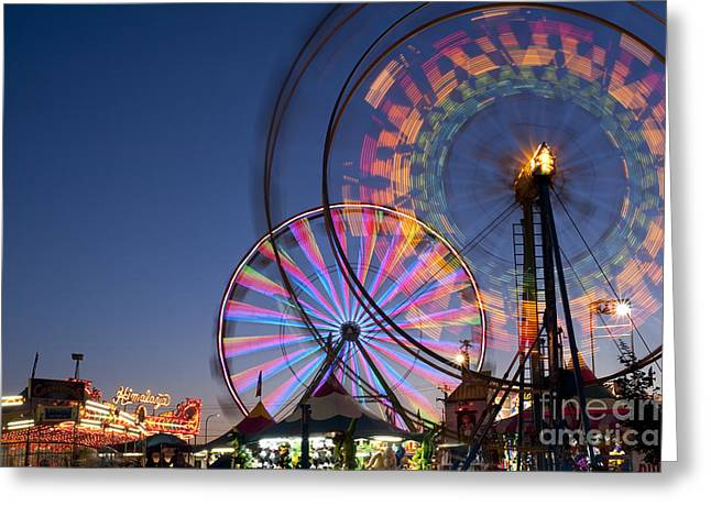 Evergreen State Fair With Ferris Wheel Greeting Card
