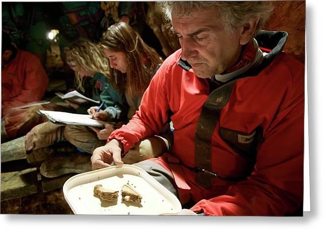 Excavations At Sima De Los Huesos Greeting Card