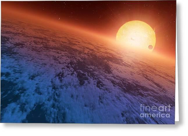 Extrasolar Super-earth, Artwork Greeting Card by Detlev van Ravenswaay
