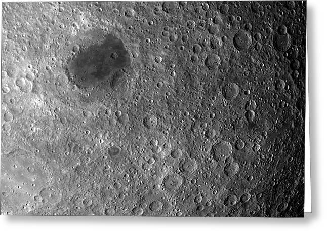 Far Side Of The Moon Greeting Card by Detlev Van Ravenswaay