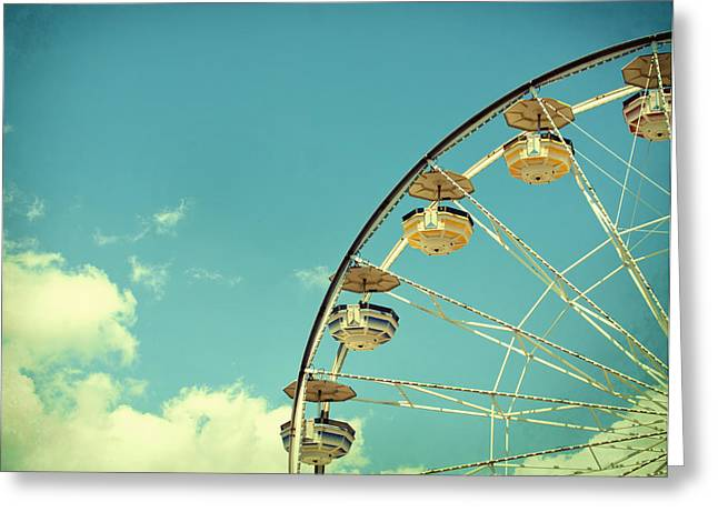 Ferris Wheel Greeting Card by June Marie Sobrito